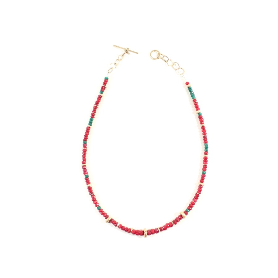 Image of Indian Summer Beaded Necklace Rubi Emerald