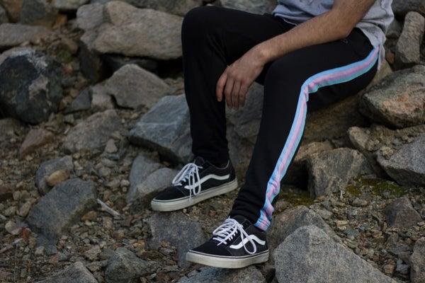 Image of Pre-Order Black Rainbow Pants