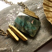 Image of Lordess Necklace - with quartz crystal + labradorite