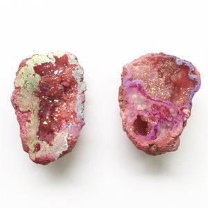 Image of Quartz Crystal Geode - rose tones