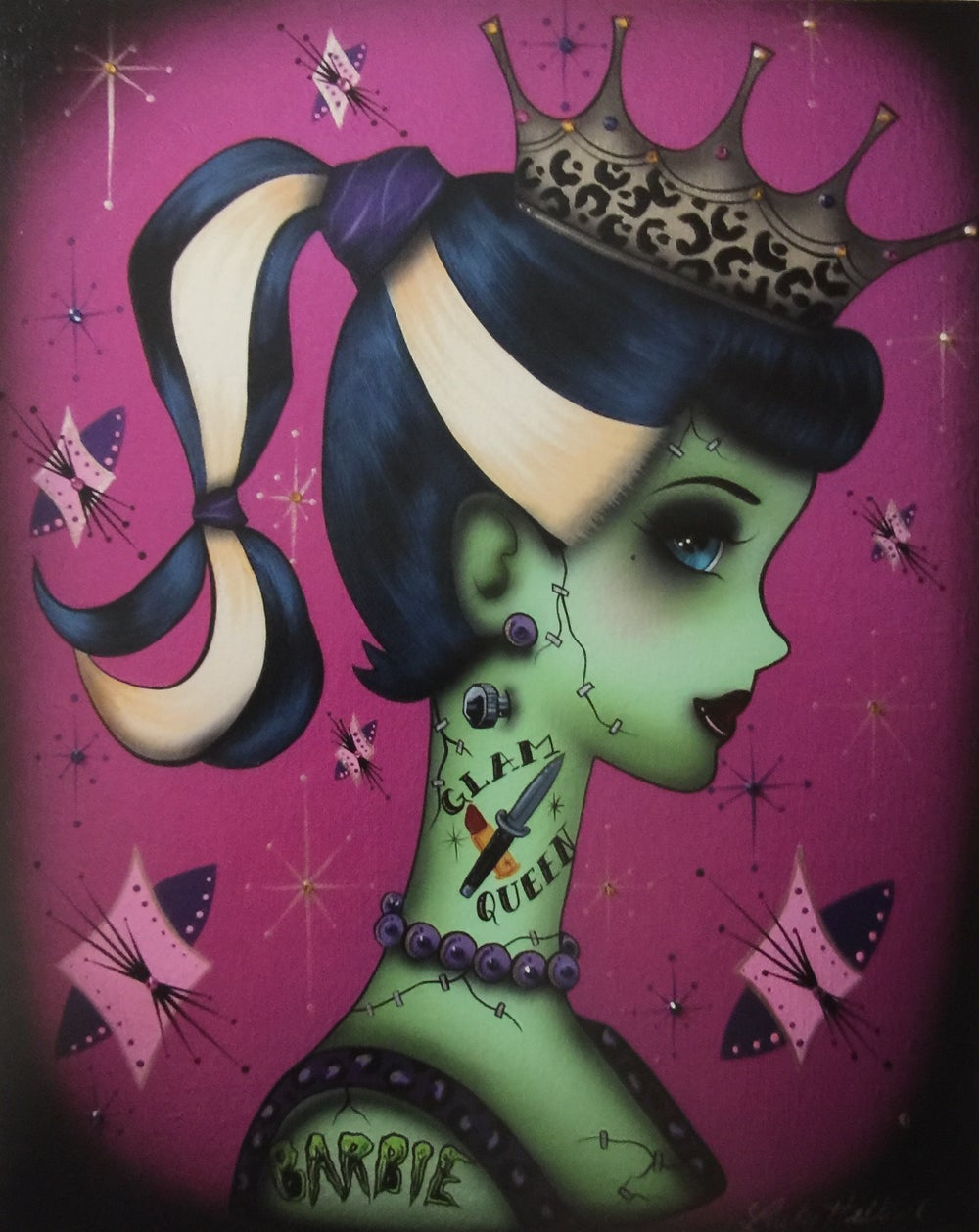 Image of Zombie Prom Queen 8x10 Print