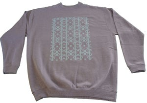 Image of NEW! Paperstack Apparel 'Mono Grams PS.' Crewneck (Bright Teal/Grey Marle)