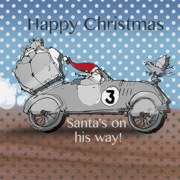 Image of Santa's Bicycle - Car journey