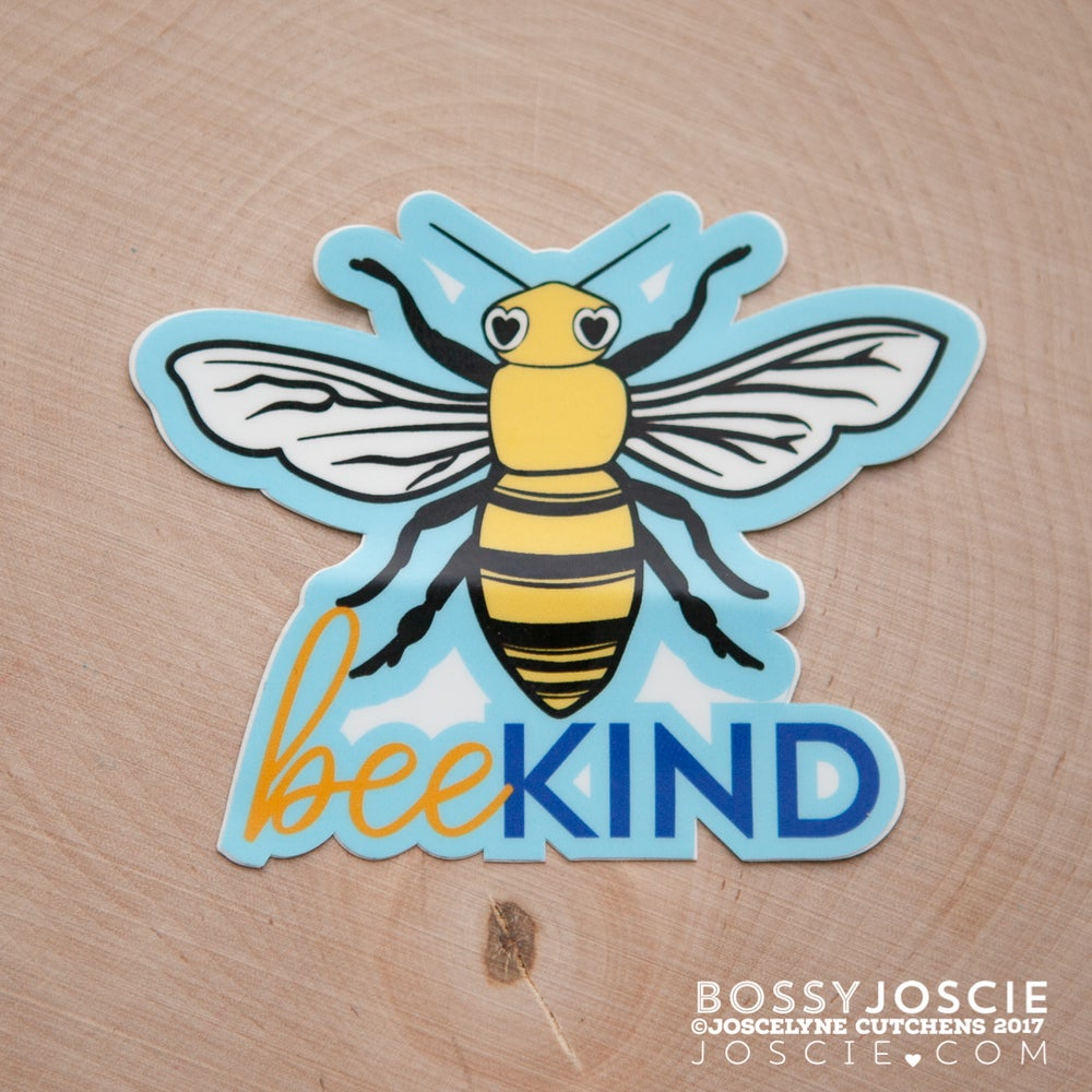 Image of Large Bee Kind Sticker