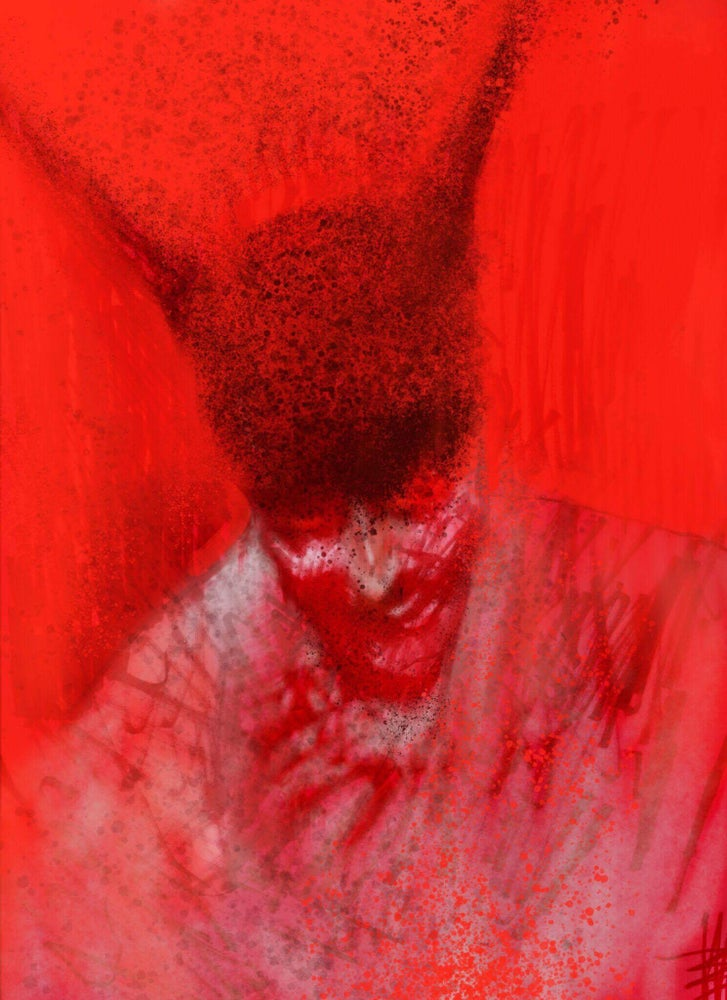 Image of Red demon joint art with Dominic Hailstone