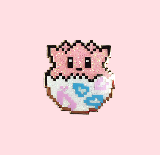 Image of 8bit Togepi - Glitter