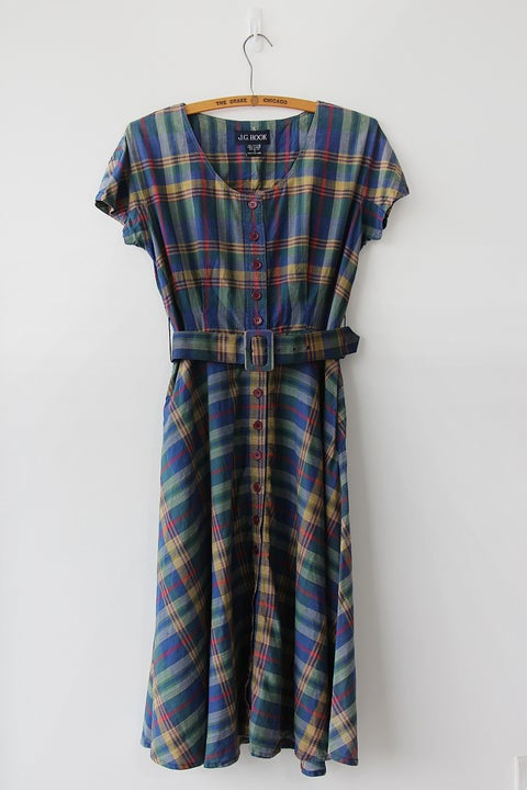 Image of SOLD Check It Out Plaid Dress