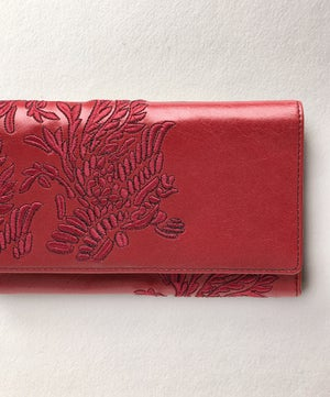 Aviary Two Tone Wallet - Crimson - Belinda Pieris