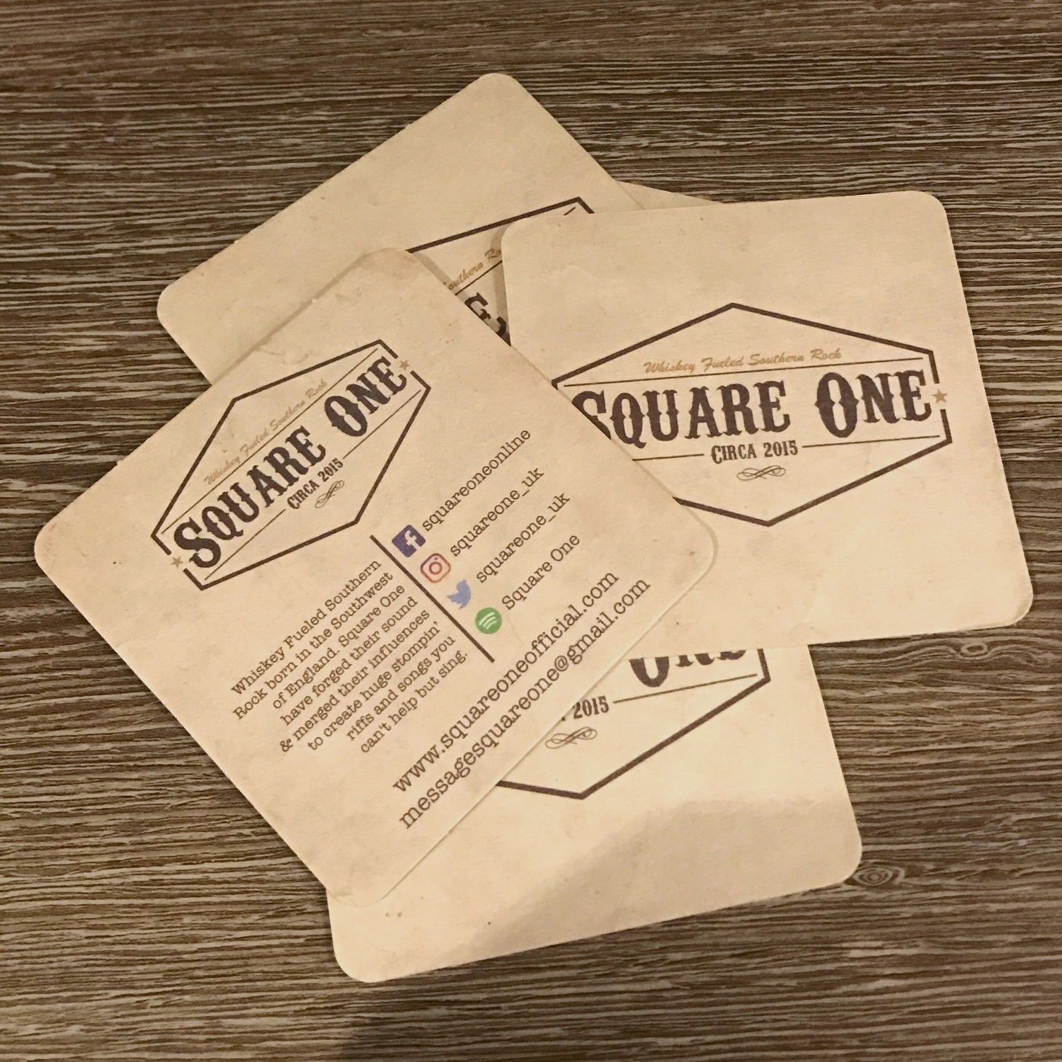 Image of Pack Of 10 Square One Beer Mats
