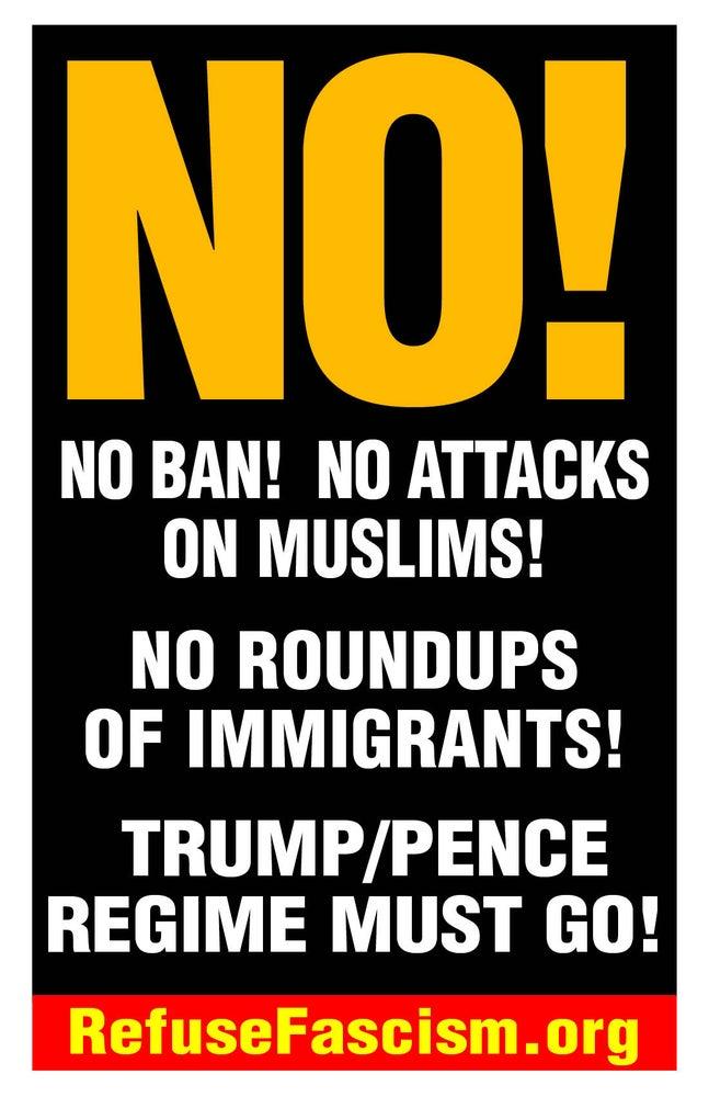 "Image of NO! 11"" x 17"" Muslim Ban Poster Pack"