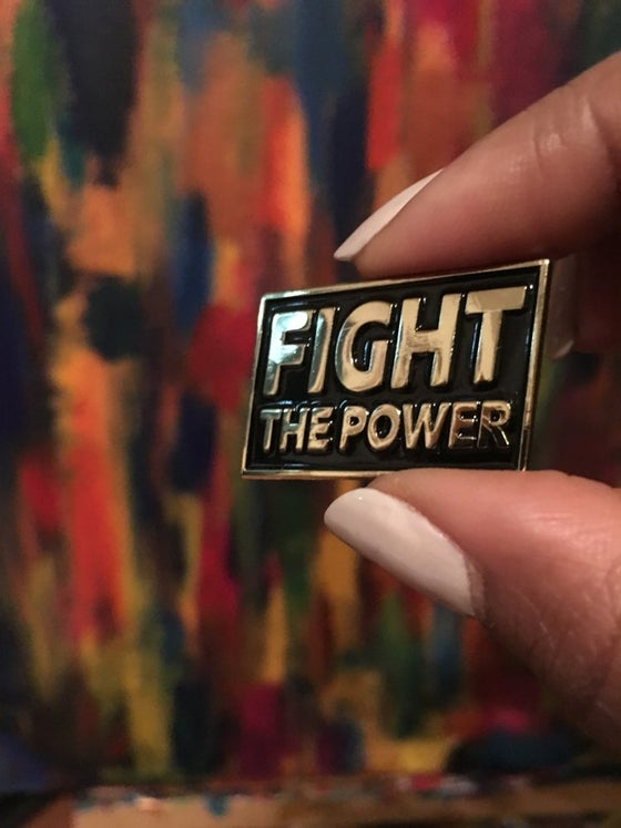 Image of Fight the Power Pin by Cyber Amaris