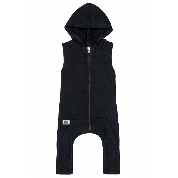 """Image of """"Born Famous"""" Hoodie Romper"""