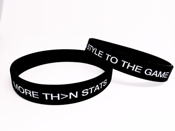 "Image of MTS ""I Bring Style To The Game"" Silicone Wristband (Black)"