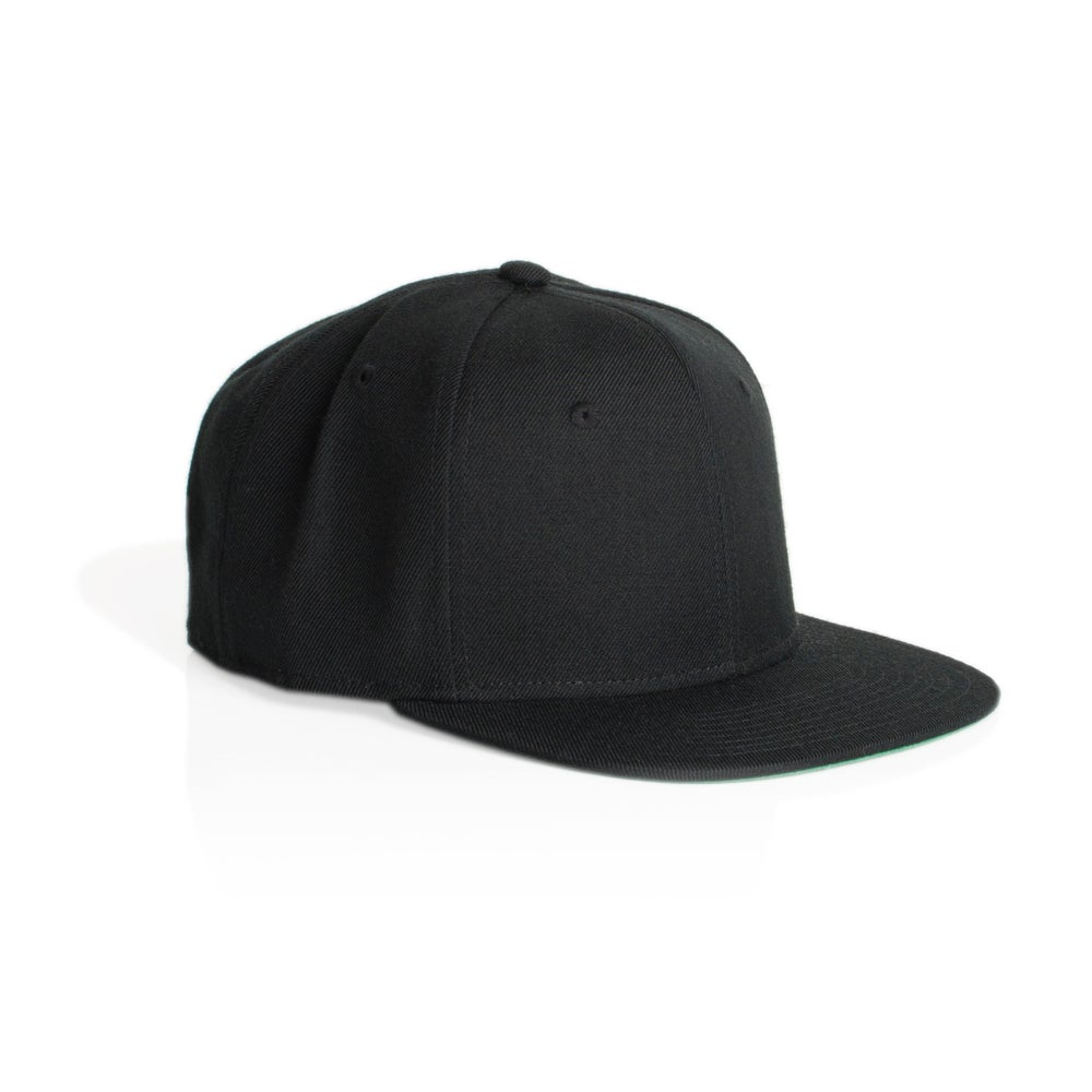 Image of TRIM SNAPBACK CAP - BLACK