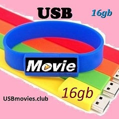 Image of USBmovies.club  WristBand 16GB assorted colors