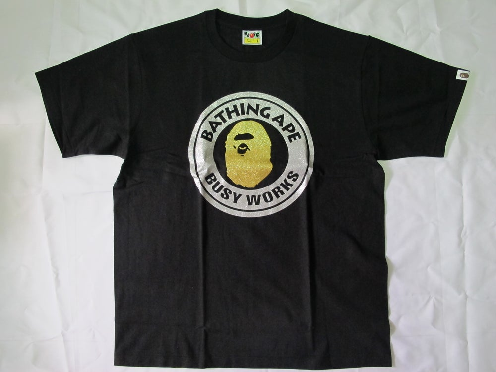 Image of A Bathing Ape (Bape) - Glitter Busy Work Tee (Black)