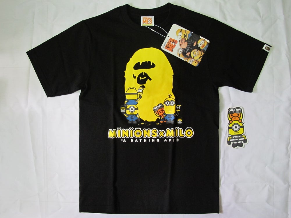 Image of A Bathing Ape x Minion (Bape) - Logo Tee (Black)