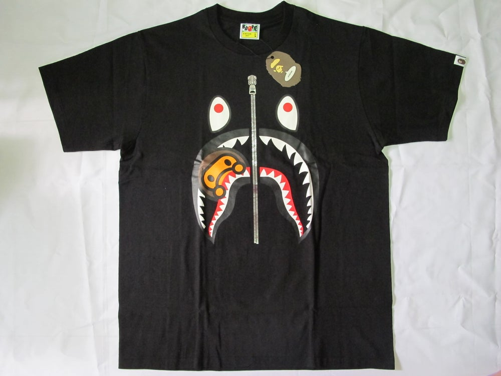Image of A Bathing Ape (Bape) - Milo Shark Tee (Black)