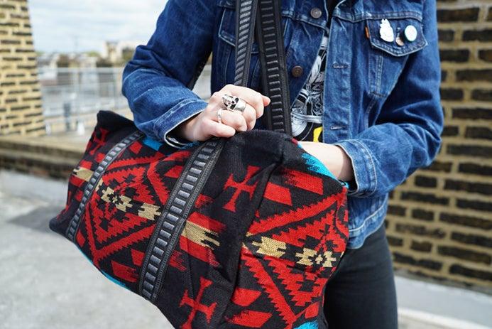Image of Weekender Travel Bag - Black/Red