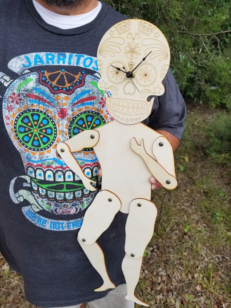 Image of Sugar Skull Clock Puppet Kit