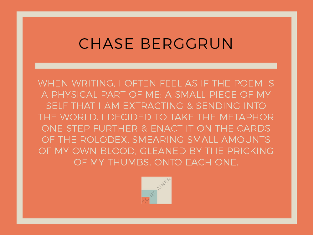 Image of blood & ink on paper / Chase Berggrun