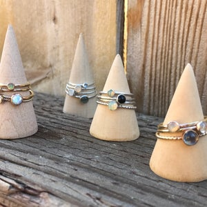 Image of CRYSTAL RINGS SILVER