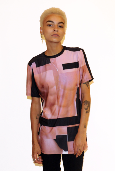 Image of HUMAN BODY PRINT TEE