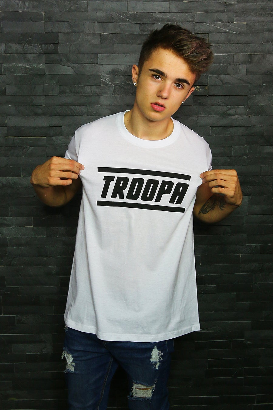 "Image of White 'TROOPA"" Tee!"
