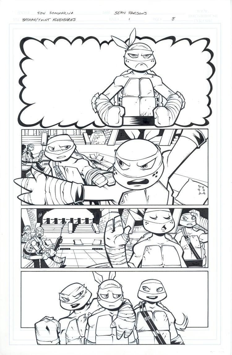 Image of Batman TMNT Adventures 1 Page 08