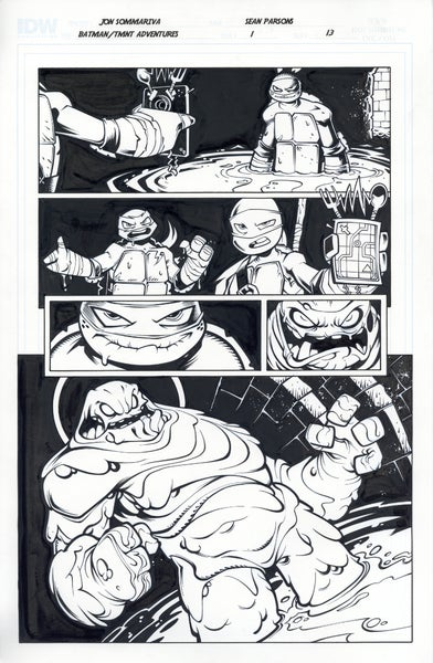 Image of Batman TMNT Adventures 1 Page 13