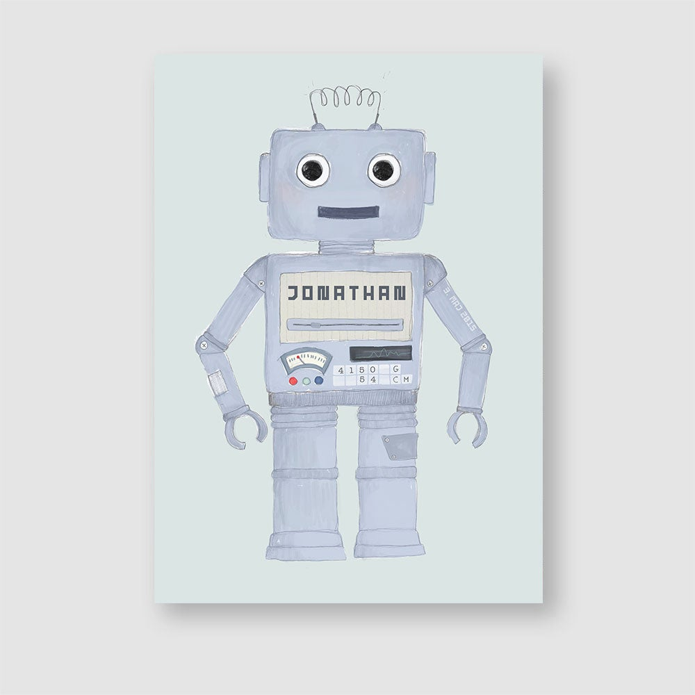 Image of The robot, name/birth poster