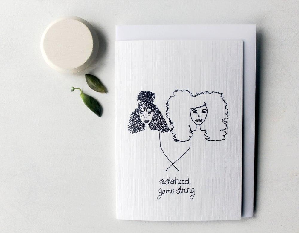 Image of Sisterhood - Linen Textured Greeting Card