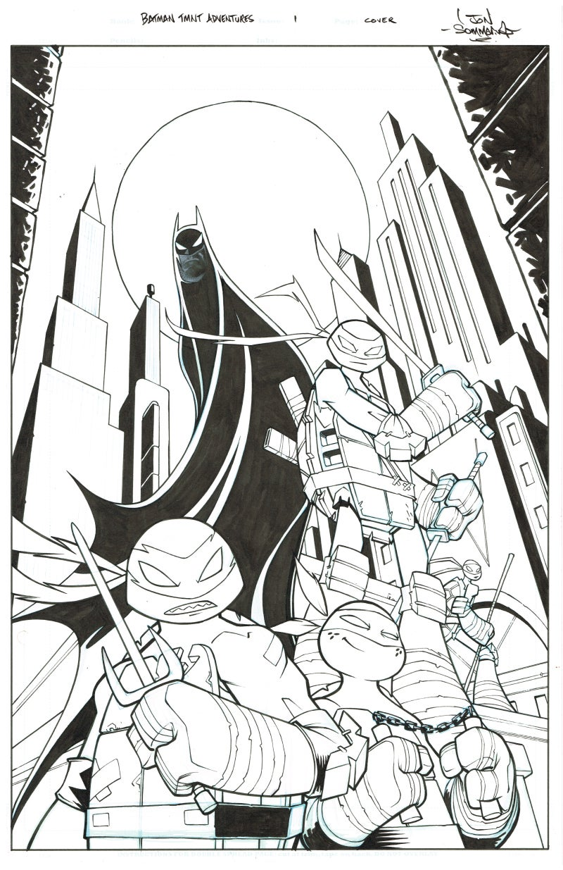 Image of Batman TMNT Adventures 1 Cover Art
