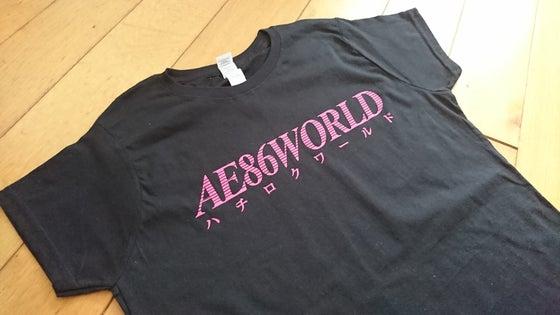 Image of AE86 WORLD Women's T-Shirt (Black / Pink)