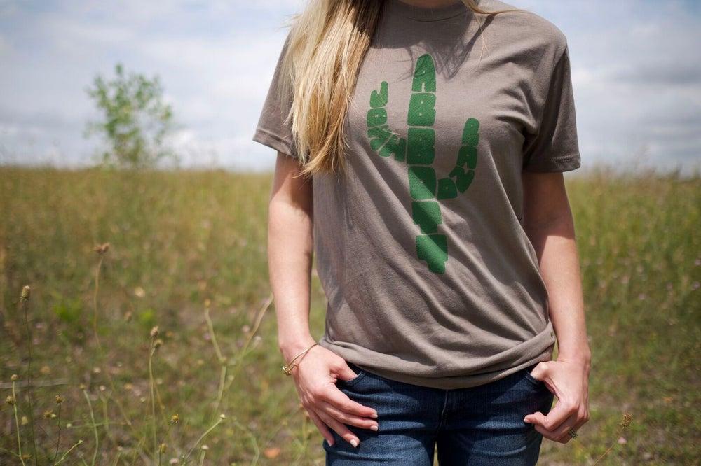 Image of JAB Gray Cactus T-Shirt
