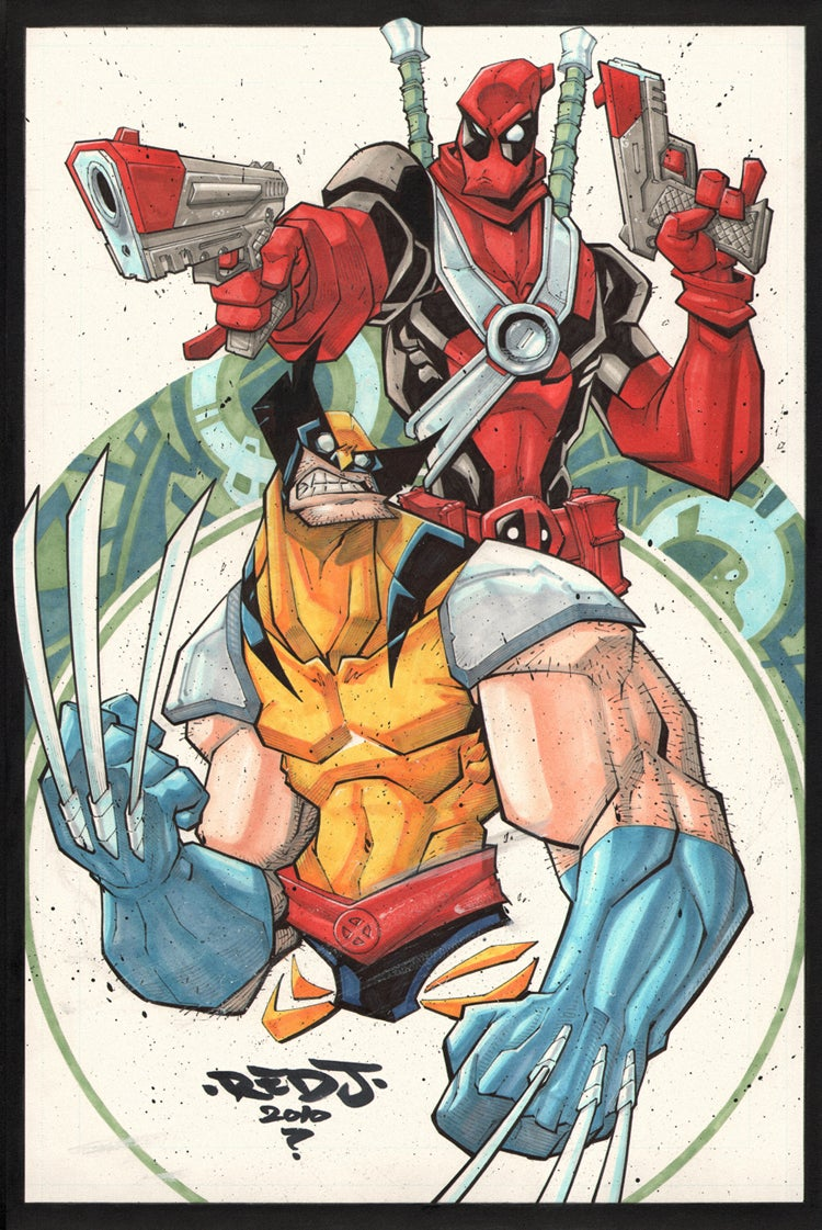 Image of Wolverine Deadpool A3 Print