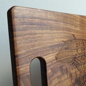 Image of Personalized Cutting Board - Wood Wedding Gift - Custom Cutting Board - Anniversary Gift