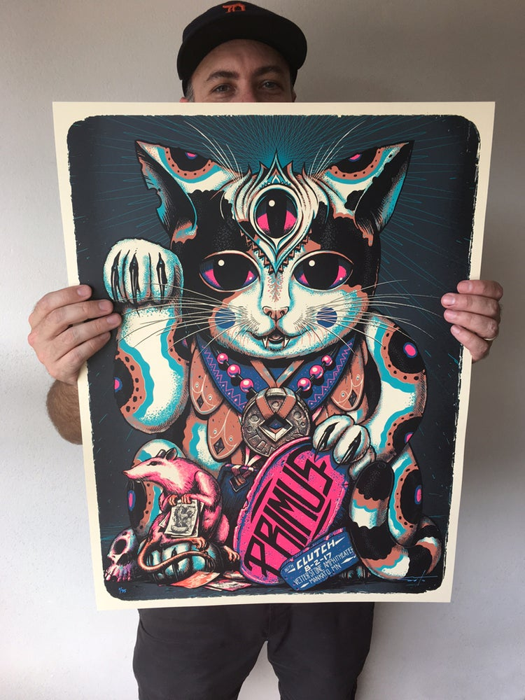 Image of Primus Pink Neko Poster