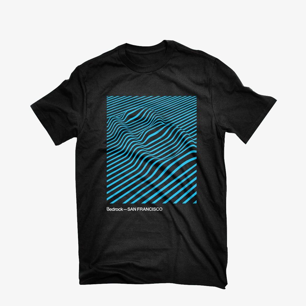 Image of Bedrock Audio Pleasures San Francisco T-shirt in Black