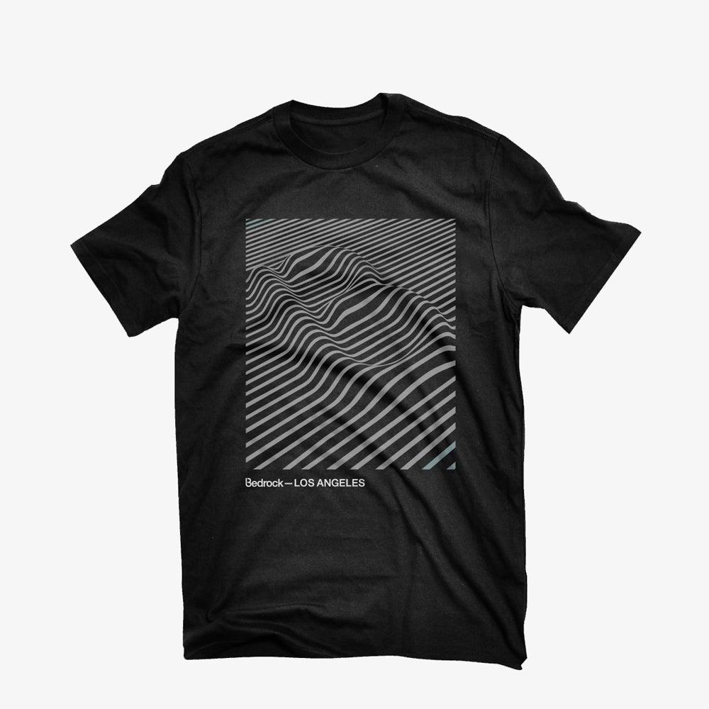 Image of Bedrock Audio Pleasures Los Angeles T-shirt in Black