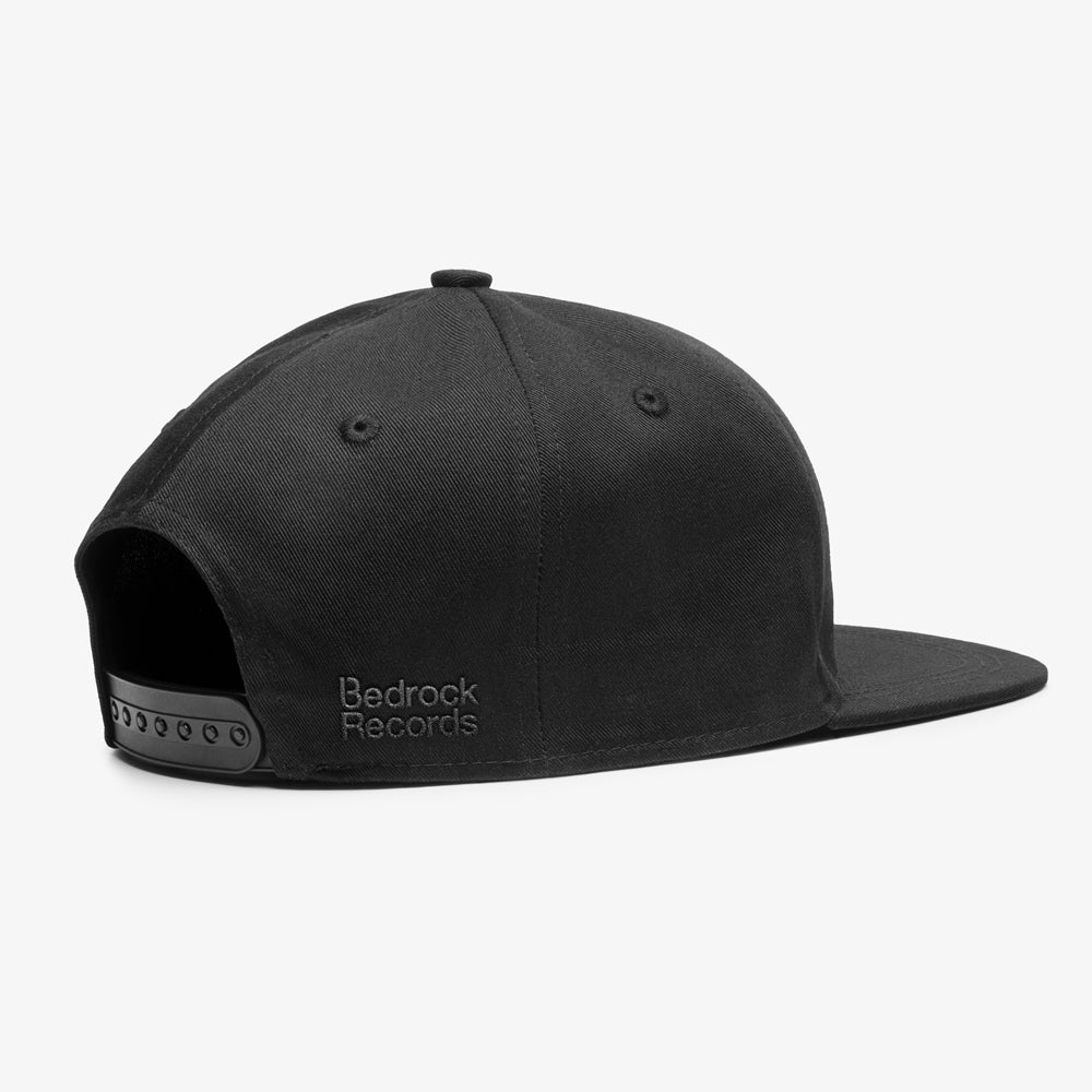 Image of Bedrock Inline Snapback Hat in Black
