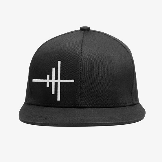 Image of Bedrock Frequency Snapback Hat in Black