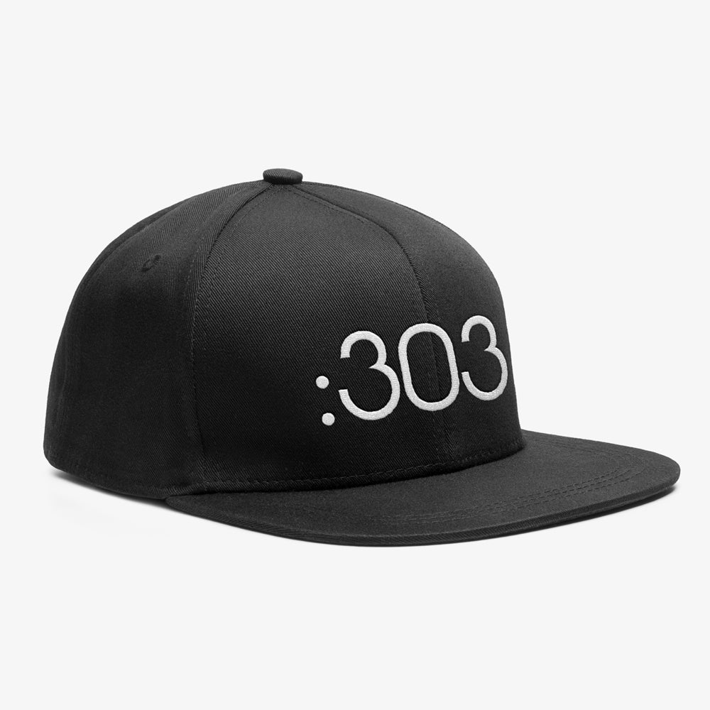 Image of Bedrock 303 Snapback Hat in Black