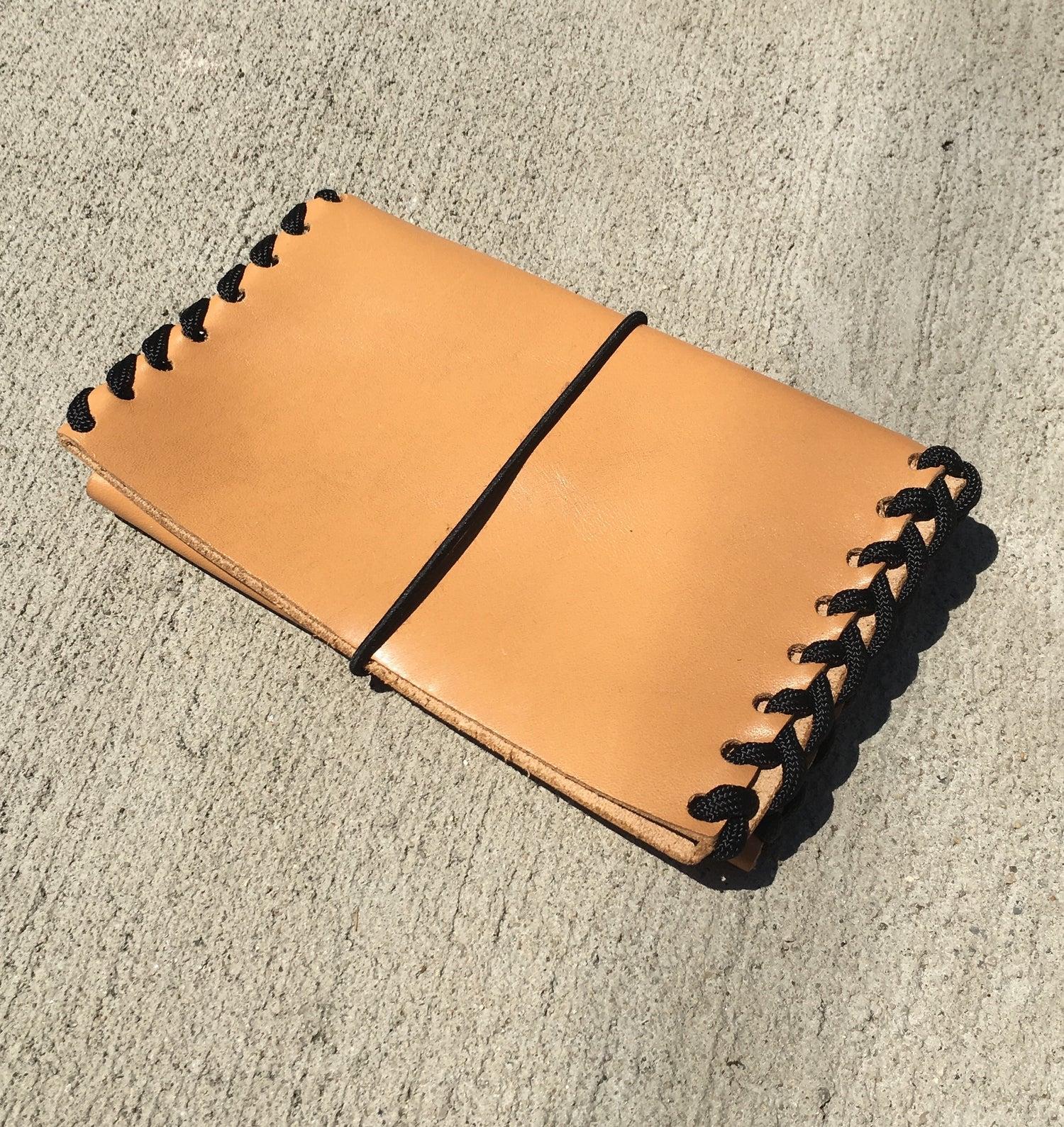 Image of BORDER Wallet <br> Caramel + Black <br> SAMPLE