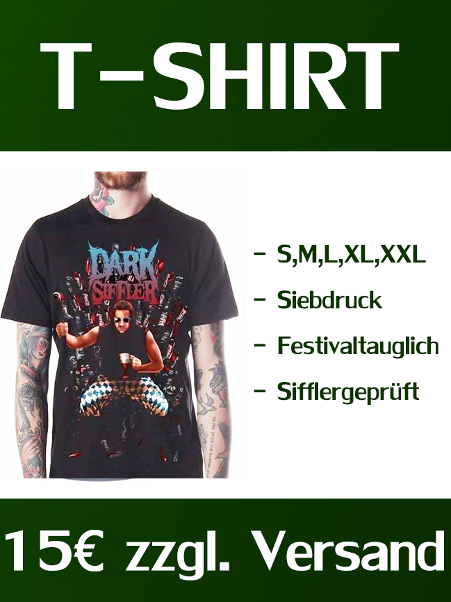 "Image of SHIRT ""SIFFLER IS COMING"" BLACK / DarkSiffler"