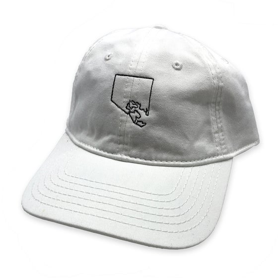 Image of City Outline Dad Hat (white)