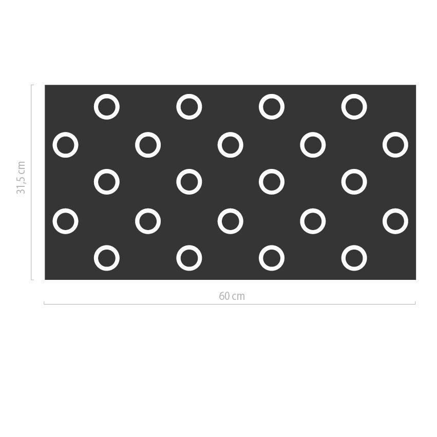 abstrakte sichtschutz fensterfolie mit kreisen musterladen. Black Bedroom Furniture Sets. Home Design Ideas