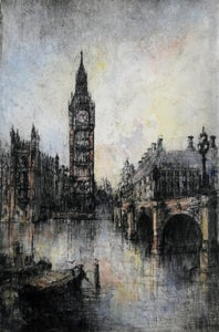 Image of Big Ben and Westminster Bridge, London