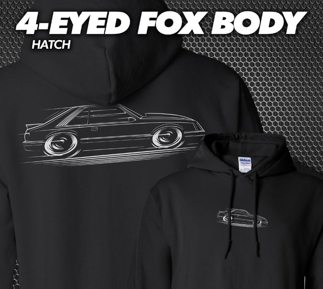 Image of 4-Eyed Fox Body Hatch T-Shirts Hoodies Banners