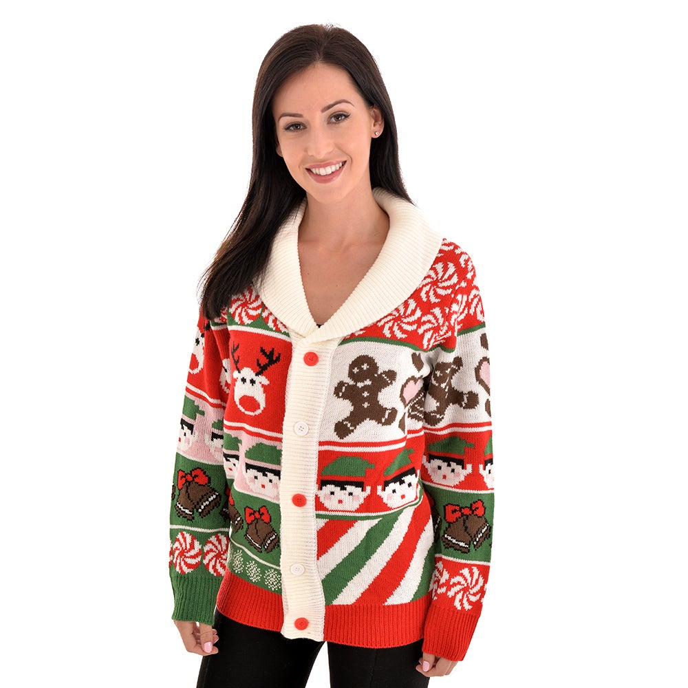 Image of Sweet Candy & Cookies Christmas Cardigan - Unisex